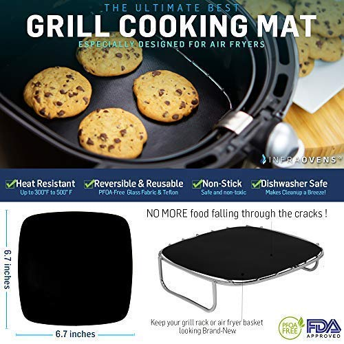 Airfryer Accessories Square Grill Pan Amp Silicone Mat For