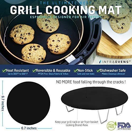Round Grill Pan Amp Silicone Mat For Small To Med Airfryer
