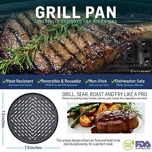 Round Grill Pan Amp Silicone Mat For Large To Xl Airfryer