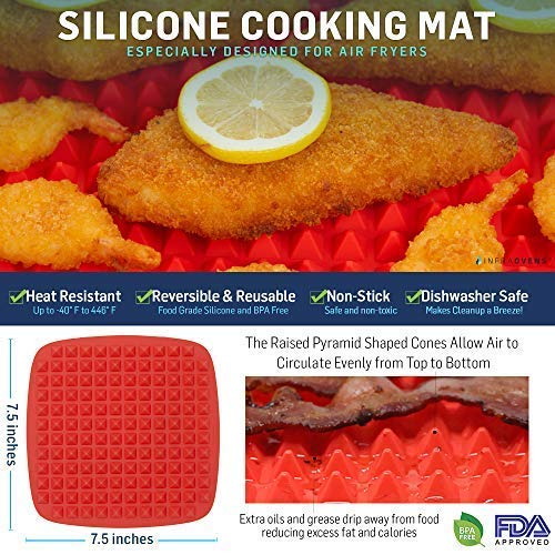 XL Air Fryer Grilling Baking Oven Safe Accessories Compatible with Phillips  Airfryer HD9240, Walita, Power AirFryer Oven, NuWave Brio, Cozyna,