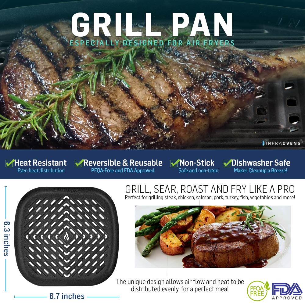 Deep Fryer Square Grill Pan Small To Medium Compatible