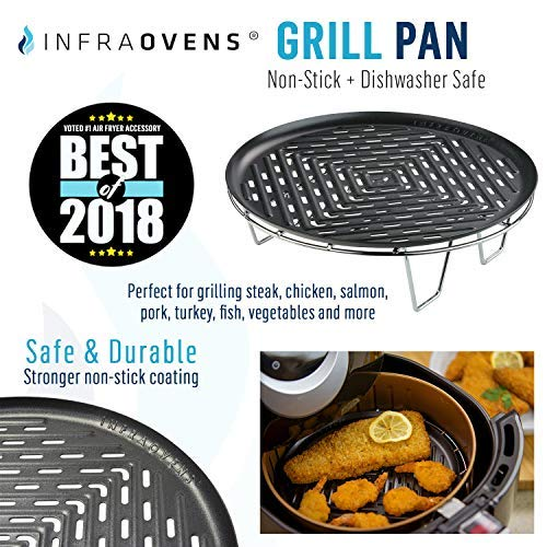 Large Xl Perforated Nonstick Round Grill Pan Airfryer