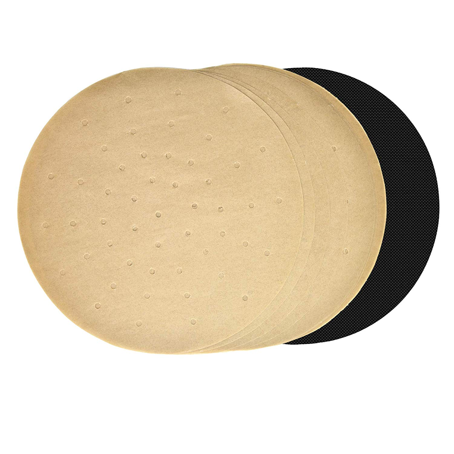 Round Unbleached Perforated AirFryer Parchment Paper
