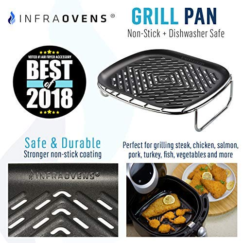 Airfryer Accessories L To Xl Square Grill Pan Amp Silicone