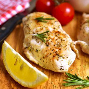 Air Fryer Lemon Garlic Chicken Breast
