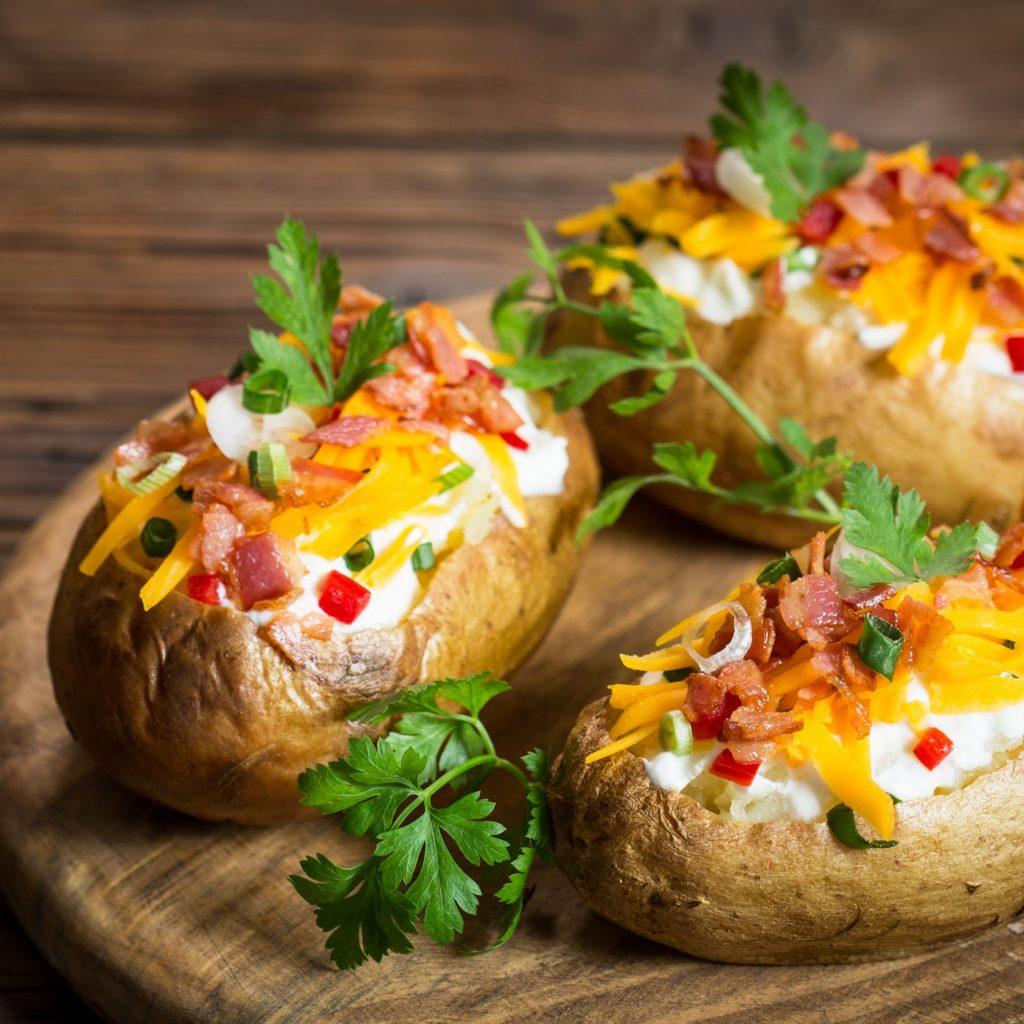 Halogen Oven Baked Potatoes